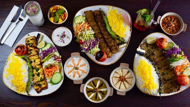 Persian restaurants and cafes
